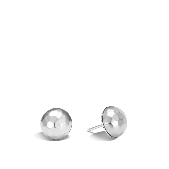 John Hardy~Classic Chain Sterling Silver Hammered Stud Earrings - Jewelry Boston