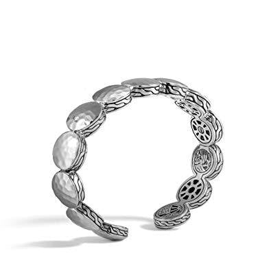 John Hardy~Dot Hammered Flex Cuff Sterling Silver Bracelet - Jewelry Boston