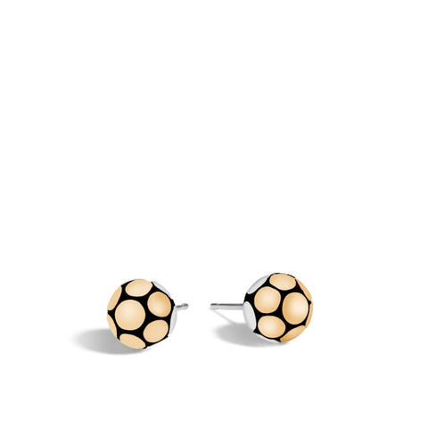 John Hardy~Dot Two-Tone Medium Stud Earring - Jewelry Boston
