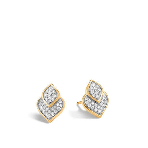 John Hardy~Naga Diamonds Studs W/ Diamonds - Jewelry Boston