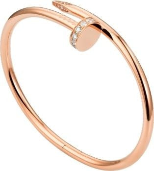 Juste-Un-Clou-Style Nail Bracelet (Rose Gold) - JEWELRY Boston