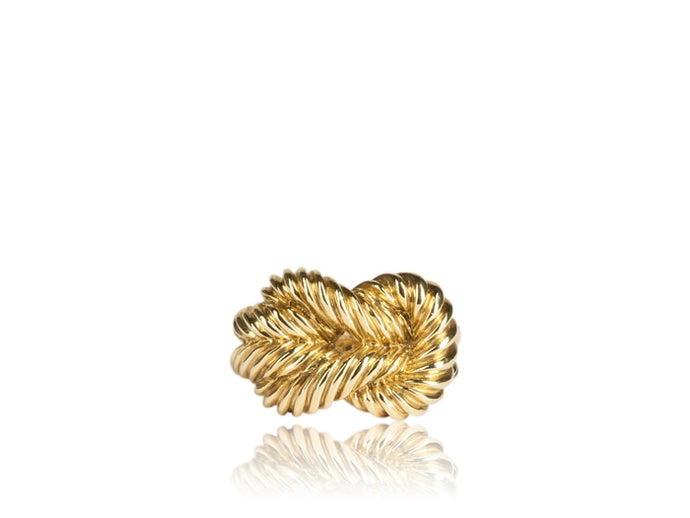 Knot Ring (Yellow Gold) - JEWELRY Boston