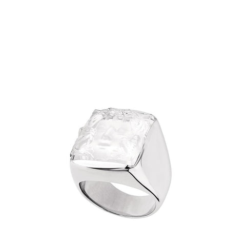 Lalique Arethuse Signet Ring - Jewelry Designers Boston