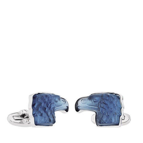 Lalique Blue Eagle Cuff Links - Cufflinks Boston