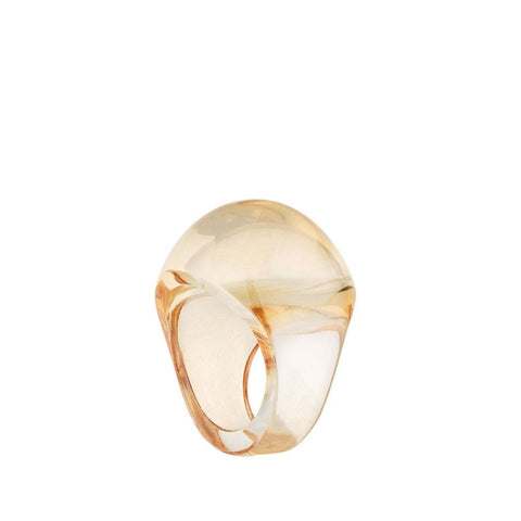 Lalique Cabohon Gold Luster Ring - Jewelry Designers Boston