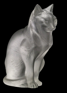 Lalique Estate Sitting Cat - Home & Decor Boston