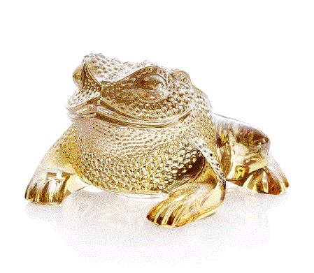 Lalique Gregoire Toad Sculpture - Home & Decor Boston