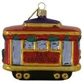 Landmark~ San Francisco Christmas Trolley Ornament - Home & Decor Boston