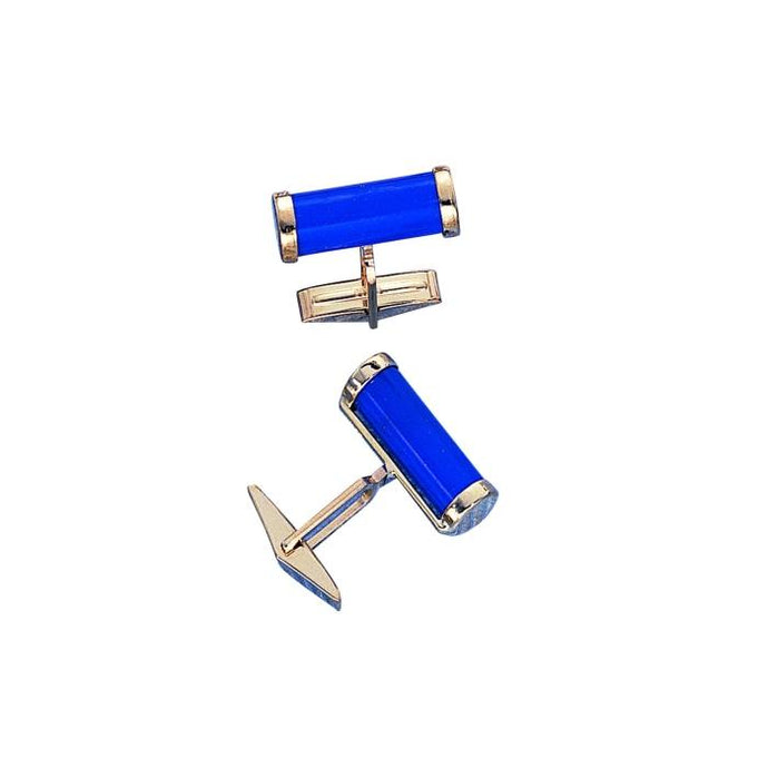 Lapis Cylinder Cuff Links - Boston