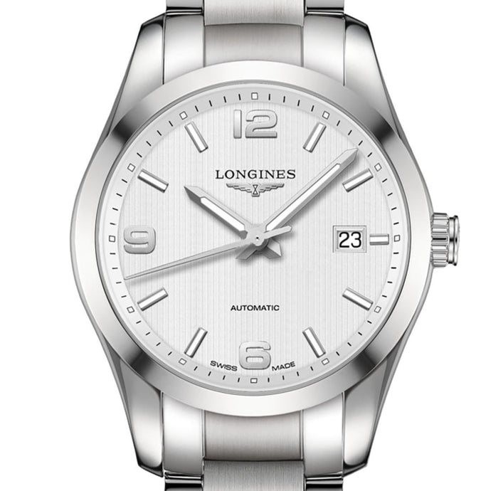Longines Conquest Classic 40mm Stainless Steel (L2.785.4.76.6) - WATCHES Boston