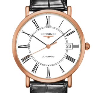 Longines Elegance Collection 3mm Rose Gold/Strap (L4.787.8.11.0) - WATCHES Boston