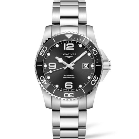 Longines HydroConquest 41mm Stainless Steel & Ceramic (Ref. L37814566) - WATCHES Boston