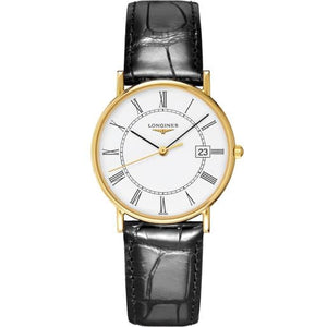 Longines Les Grandes Presence Yellow Gold/Strap (Ref. L47436110) - WATCHES Boston