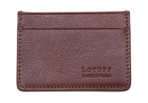 Lotuff Credit Card Wallet in Chestnut - GIFTS Boston