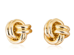 Louis Tamis Large Gold Knot Cuff Links - Cufflinks Boston