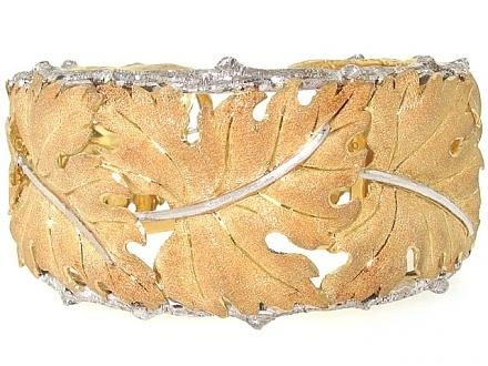 M. Buccellati Leaf Cuff Bracelet - Jewelry Boston