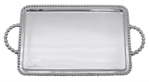 Mariposa Beaded Medium Service Tray - HOME & DECOR Boston