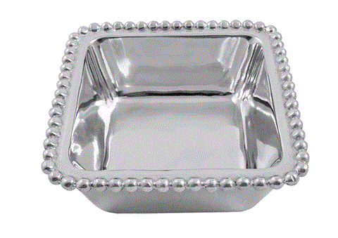 Mariposa Beaded Square Condiment Bowl - Home & Decor Boston