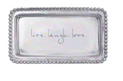Mariposa Live. Laugh. Love Beaded Tray - Home & Decor Boston