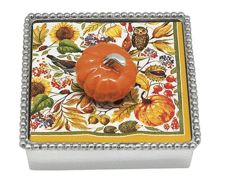 Mariposa Orange Pumpkin Napkin Holder - Home & Decor Boston