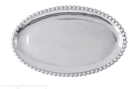 Mariposa Pearled Oval Platter - Home & Decor Boston