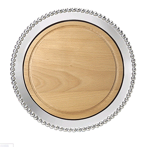 Mariposa Pearled Round Cheese Board - Home & Decor Boston