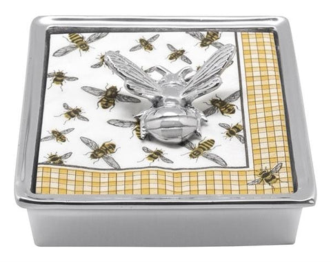 Mariposa~Honey Bee Signature Napkin Box - HOME & DECOR Boston