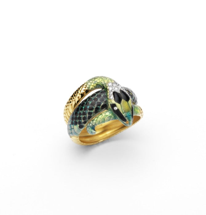 Masriera~ Snake Ring (Yellow Gold) - Jewelry Designers Boston