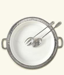 Match Pewter- Convivo Round Serving Platter - Home & Decor Boston