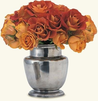 Match Pewter- Rimmed Vase 6.8 - Home & Decor Boston