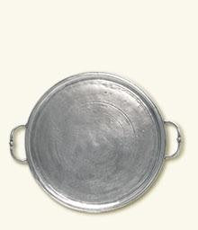 Match Pewter- Round Tray - Home & Decor Boston