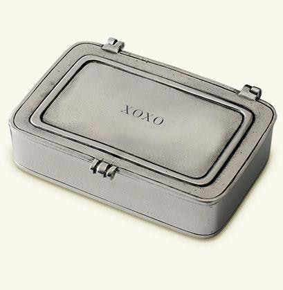 Match Pewter- Xoxo Small Box - Gifts Boston