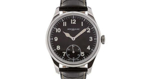 Montblanc 1858 Special Edition Manual Small Second Stainless Steel/leather Strap 44Mm (113860) - Watches Boston