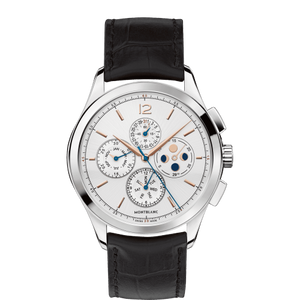 Montblanc Heritage Chronométrie Annual Calendar Stainless Steel/leather Strap 42Mm (114875) - Watches Boston