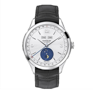 Montblanc Heritage Chronométrie Quantième Complet Stainless Steel/leather Strap 40Mm (112539) - Watches Boston