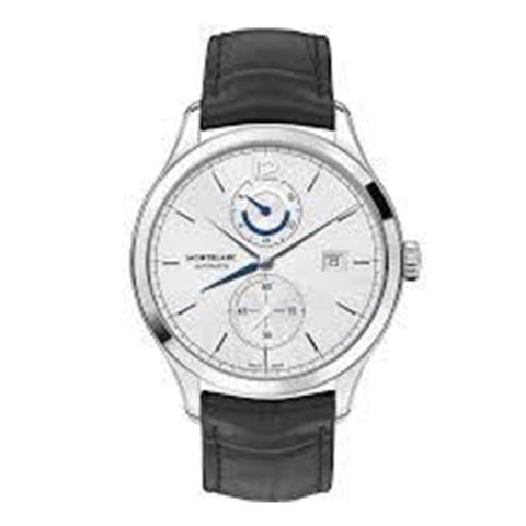 Montblanc Heritage Dual Time Chronometrie Stainless Steel/leather Strap 41Mm (112540) - Watches Boston