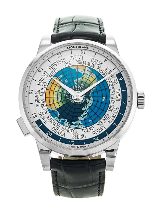 Montblanc Heritage Limited Edition Spirit Orbis Terrarum Stainless Steel/leather Strap 41Mm (116533) - Watches Boston
