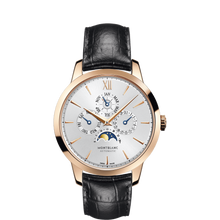 Load image into Gallery viewer, Montblanc Heritage Spirit Perpetual Calendar Rose Gold/leather Strap 39Mm (110714) - Watches Boston