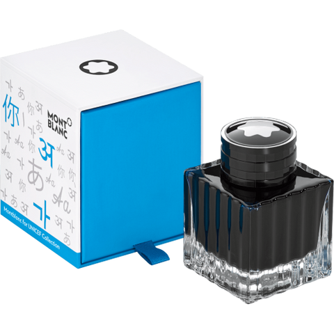 Montblanc Ink Bottle Unicef Blue 50 Ml (116223) - Gifts Boston