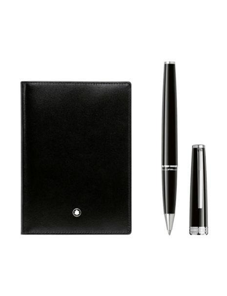 Mont Blanc Pix Rollerball Pen and Passport Holder - Boston