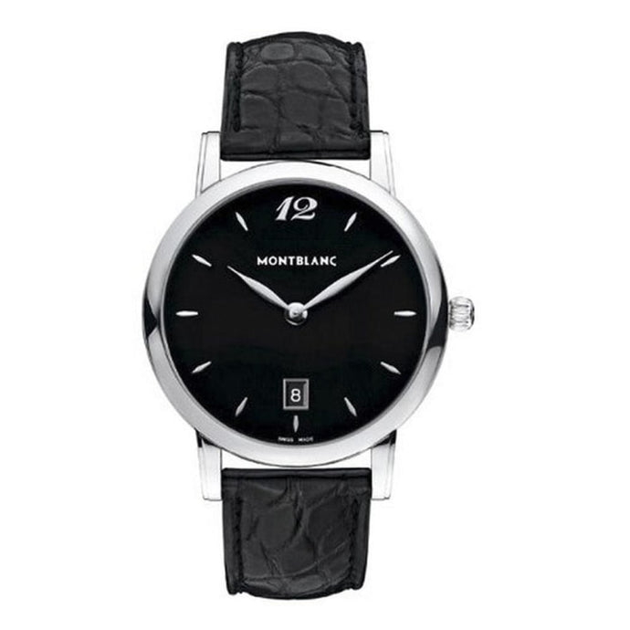 Montblanc Star Classique Date Stainless Steel/leather Strap 39Mm (108769) - Watches Boston