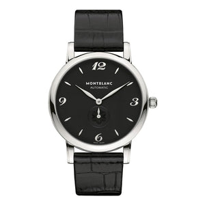 Montblanc Star Classique Stainless Steel/leather Strap 39Mm (107072) - Watches Boston