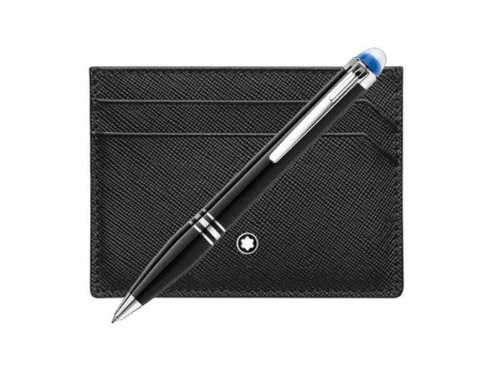 Mont Blanc Starwalker Ballpoint Pen and 5cc Pocket Holder - Boston