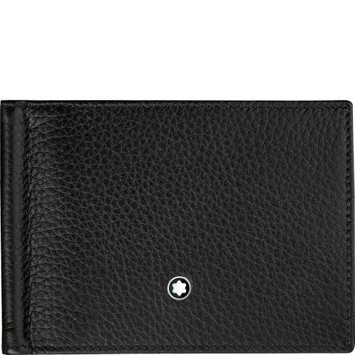 Montblanc~Meisterstück Soft Grain Wallet 6Cc With Money Clip Small - Gifts Boston