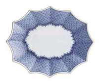 Mottahedeh Blue Lace Fluted Tray (1 Remaining) - Engagement Boston