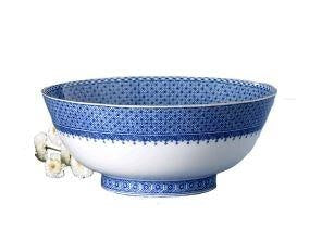 Mottahedeh Blue Lace Round Bowl (1 Remaining) - Engagement Boston