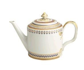 Mottahedeh Chinoise Blue Teapot (1 Remaining) - Engagement Boston