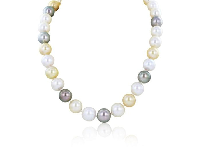 Multi Color South Sea Pearl Necklace - Boston
