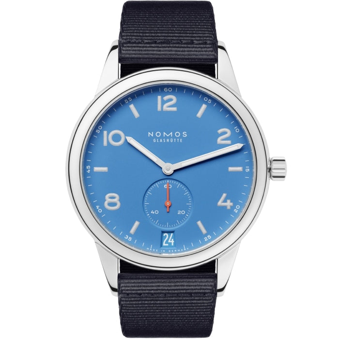 NOMOS Club Automat Datum Signalblau 41.5mm Stainless Steel (777) - WATCHES Boston