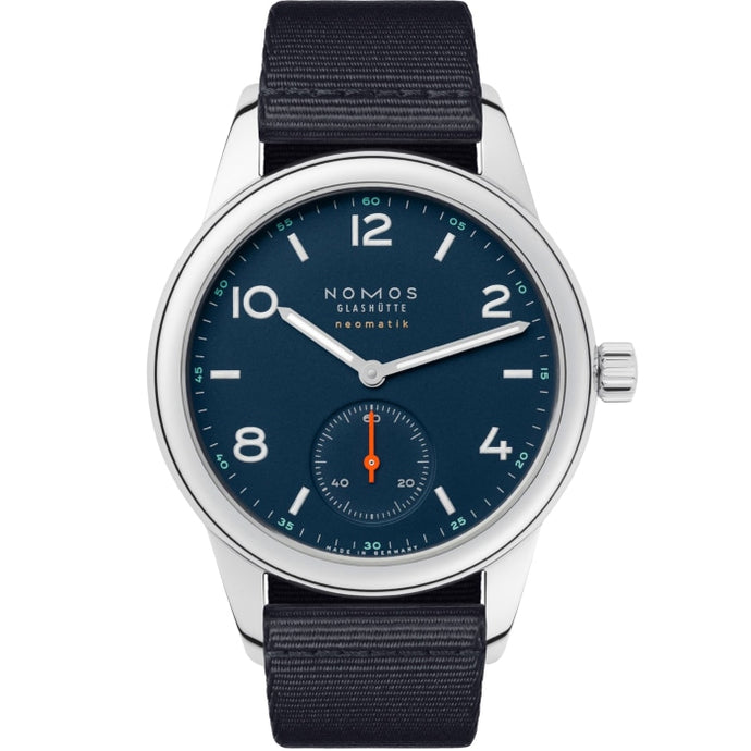 NOMOS Club Neomatik Atlantik 37mm Stainless Steel (741) - WATCHES Boston